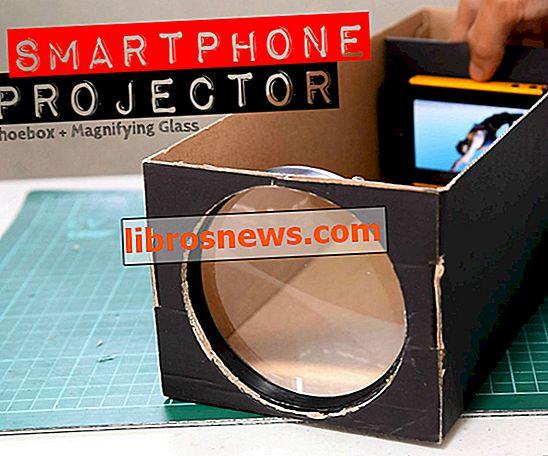 Bauen Sie einen Smartphone-Projektor mit einem Schuhkarton
