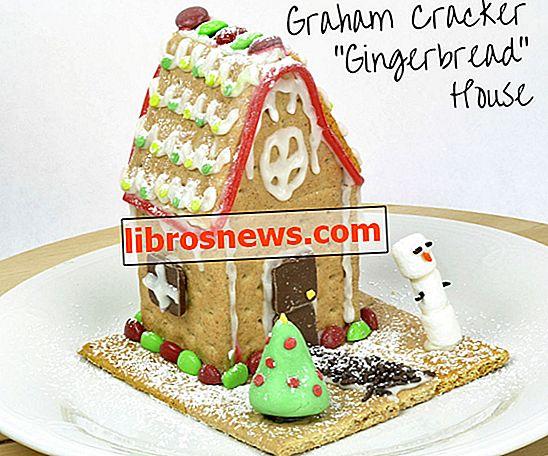 """Graham Cracker """"Lebkuchen"""" Haus für Kinder"""