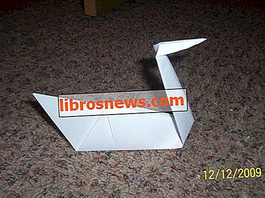 Cómo hacer un cisne de origami