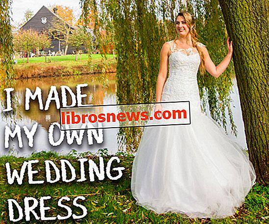 ¡Hice mi propio vestido de novia!