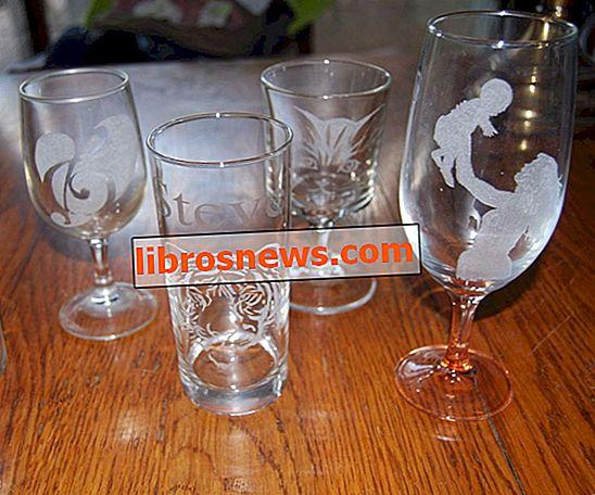 Grabado de vidrio: divertido y fácil