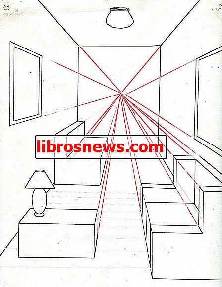 So zeichnen Sie einen Raum mit einer Punktperspektive