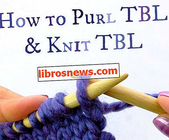 Wie man TBL reinigt und TBL strickt (durch Back Loop)!