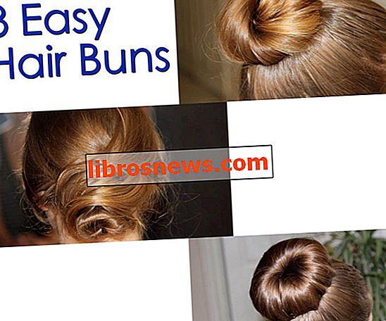 3 einfache Haarknoten