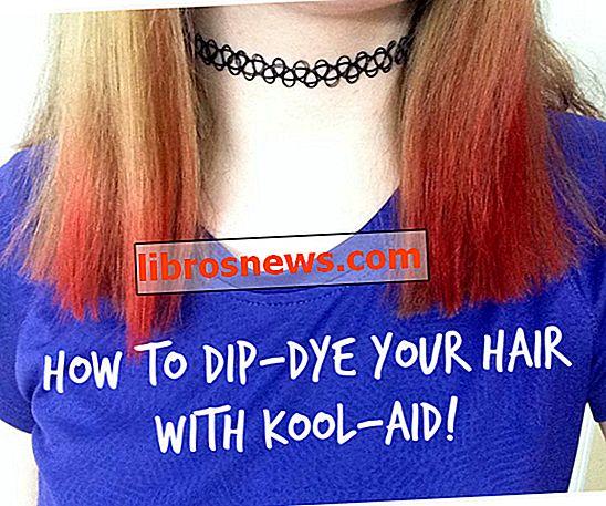 So tauchen Sie Ihr Haar mit Kool-Aid ein