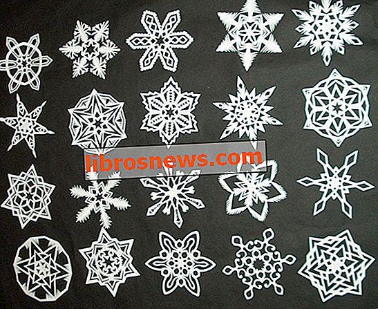 6先の尖った紙雪片を作る方法