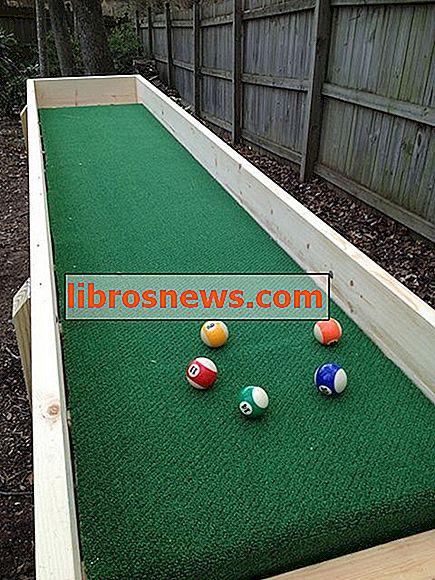 Mesa de bola de alfombra al aire libre (también llamada bola de canalón)