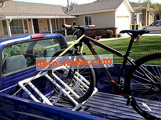 Estante de bicicleta de PVC con plataforma de camión