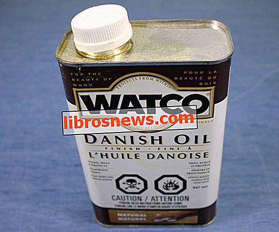 Aplicando aceite danés